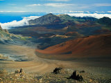 Cinder Cone Crater at Haleakala's Summit  Maui  Hawaii  USA