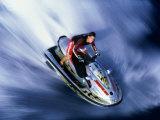 Person Riding a Jet Ski