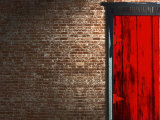 Brick Wall with a Red Door