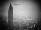 The Zeppelin Hindenburg Floats Past the Empire State Building