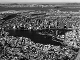 This Aerial View Shows the City of Oakland, Calif., in the Foreground Papier Photo