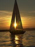 A Sailboat Heads Back to its Mooring Reproduction d'art