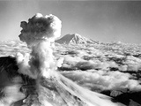 Black Smoke and Ash Drift Skyward as Mount St Helens Erupts