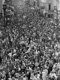 Mardi Gras Revelers Gather at St Charles Street
