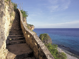 1 000 Steps Limestone Stairway in Cliff  Bonaire  Caribbean