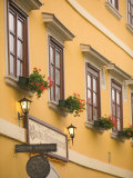 Restarant in Old Medieval Town  Western Transdanubia  Hungary