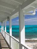 Porch View of the Atlantic Ocean, Loyalist Cays, Abacos, Bahamas Papier Photo par Walter Bibikow