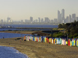 Bathing Boxes  Middle Brighton Beach  Melbourne  Victoria  Australia