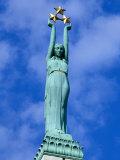 Freedom Statue in Riga  Latvia