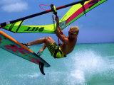Windsurfing Jumping  Aruba  Caribbean