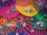 Colorful Silk Umbrellas  China