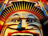 Face of Luna Park at Sunset St Kilda  Melbourne  Australia
