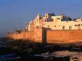 Old Waterfront City Behind Ramparts  Essaouira  Morocco