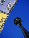Street Lamp and Houses at Nyhavn  Copenhagen  Denmark