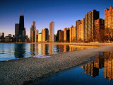 City Skyline from North Avenue Beach  Chicago  United States of America
