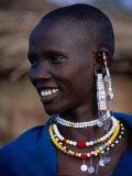 Portrait of a Maasai Woman  Lake Manyara National Park  Tanzania