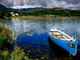 Wooden Boat Tied up on Beara Peninsula  Adrigole  Ireland