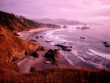 Overhead of Coastline  Cannon Beach  Evening  Ecola State Park  USA