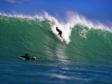 Surfer at Waikanae Beach  Poverty Bay  Gisborne  New Zealand