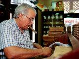 Cigar Roller at Work  Tampa  USA