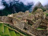 Overview of Terraced Royal Inca Ruins  Machu Picchu  Peru