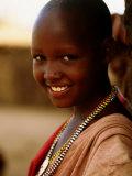 Maasai Girl  Masai Mara National Reserve  Kenya