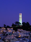 Coit Tower  Telegraph Hill at Dusk  San Francisco  USA