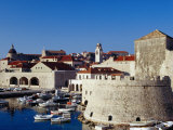 Old Fort Overlooking Marina  Dubrovnik  Croatia
