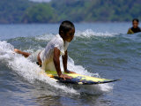 Boy Learning to Surf  Morro Negrito  Panama