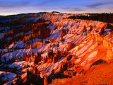 Sunset Over Canyon Slopes During Winter  Bryce Canyon National Park  USA