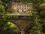 Bridge with Chatsworth House in the Background  Chatsworth  United Kingdom