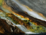 Detail of Water Overflowing from Midway Geyser Basin  Yellowstone National Park  USA