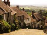 Houses on Gold Hill  Shaftesbury  United Kingdom