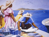 Mural at Public Market  Marigot  St Martin  Caribbean