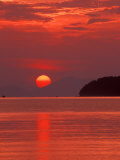 Andaman Sea Glows With Reflected Sunset  Thailand