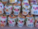 Day of the Dead  Sugar Skull Candy at Abastos Market  Oaxaca  Mexico