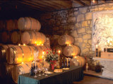 Entrance to the Wine Caves at the Del Dotto Winery  Napa Valley Wine Country  California  USA