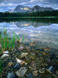Rocky Shore of Frog Lake  Challis National Forest  Sawtooth National Recreation Area  Idaho  USA