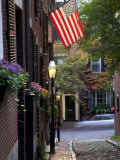 Cobblestone Street and Historic Homes of Beacon Hill  Boston  Massachusetts  USA