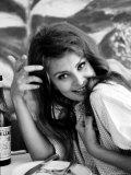 Actress Sophia Loren Aluminium par Alfred Eisenstaedt