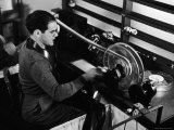 """Director Frank Capra Editing Film for """"You Can't Take It with You"""" at Columbia Studios"""