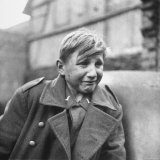 Fearful 15 Year Old German Luftwaffe Crying After Being Taken Prisoner by American Forces