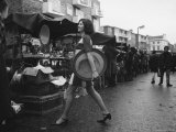 Art Director Jeanette Collins wears latest fashion while strolling through Portobello Road
