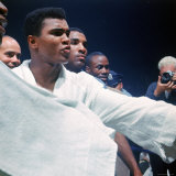 Heavyweight Boxer Cassius Clay  aka Muhammad Ali  After His Fight with Sonny Liston