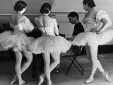 Ballerinas at George Balanchine's American School of Ballet Gathered During Rehearsal