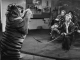 """Animal Trainer Gunther Gebel Williams on """"Panorama"""" with Guest Martha Mitchell and Maury Povich"""