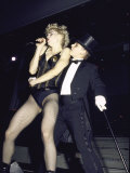 Singer Madonna Performing with Dancer