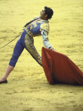 "Bullfighter Francisco Ribera  Known as ""Paquirri "" Leaning Back in the Ring"