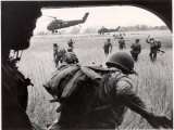 US Marines 163rd Helicopter Squadron Discharging South Vietnamese Troops for an Assault