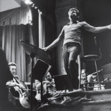 Maestro Leonard Bernstein Conducting the NY Philharmonic Orchestra for a Concert at Carnegie Hall